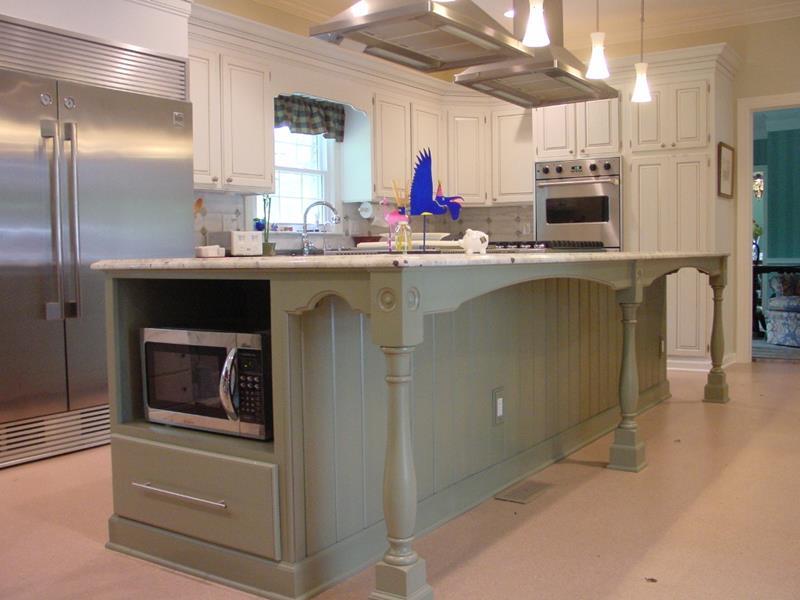 72 Luxurious Custom Kitchen Island Designs-23