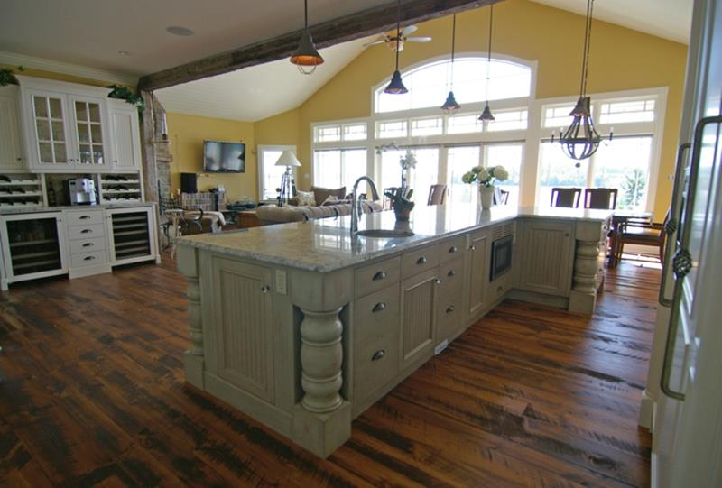 72 Luxurious Custom Kitchen Island Designs-25