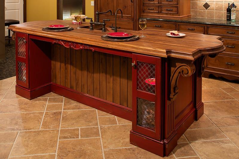 72 Luxurious Custom Kitchen Island Designs-35