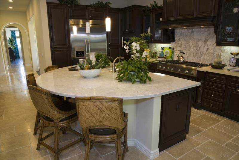 72 Luxurious Custom Kitchen Island Designs-39