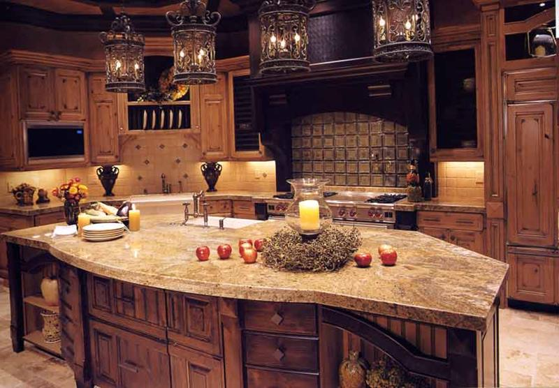 72 Luxurious Custom Kitchen Island Designs-44