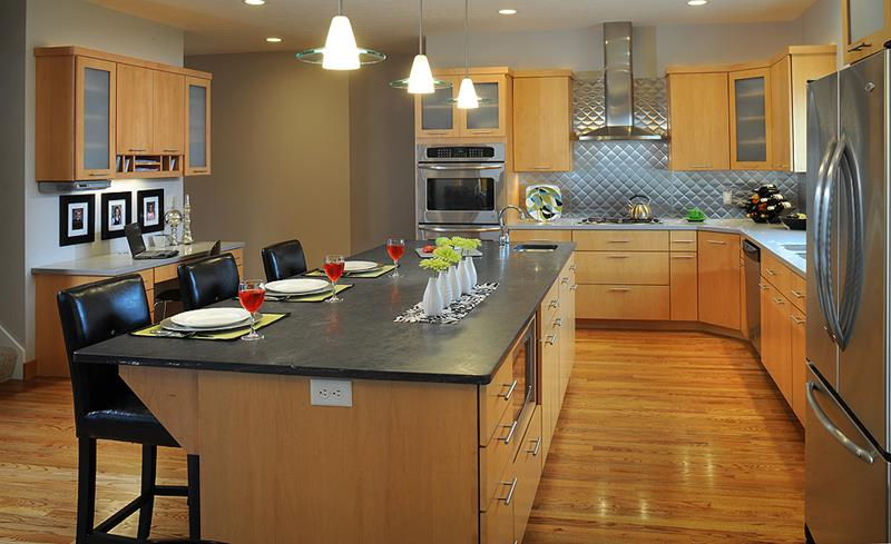 72 Luxurious Custom Kitchen Island Designs-45