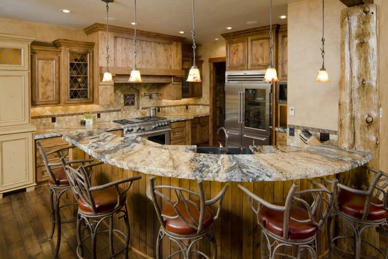 72 Luxurious Custom Kitchen Island Designs-52
