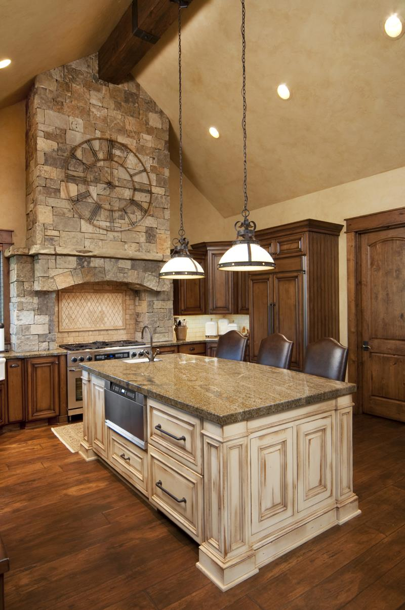72 Luxurious Custom Kitchen Island Designs-59