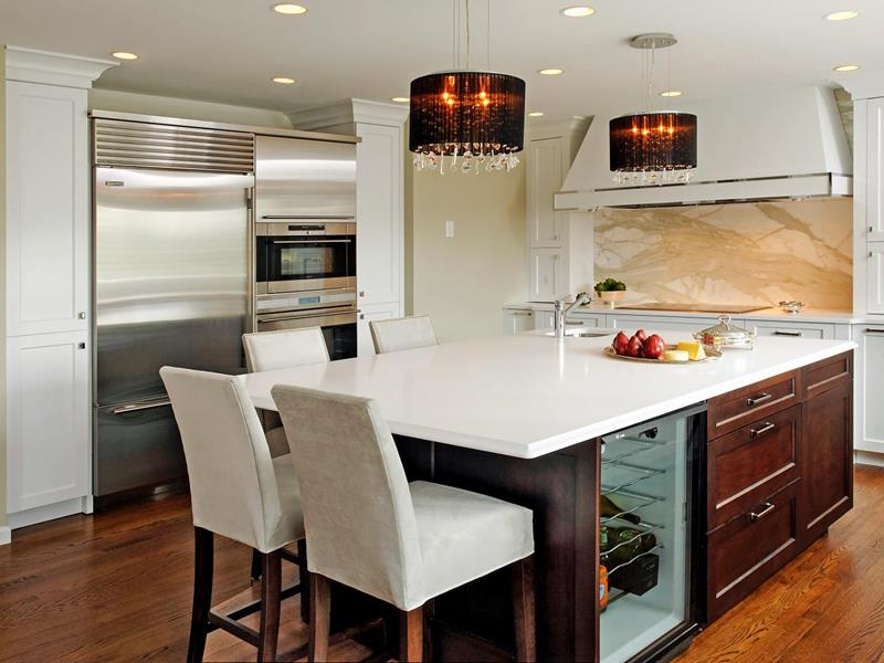 72 Luxurious Custom Kitchen Island Designs-65