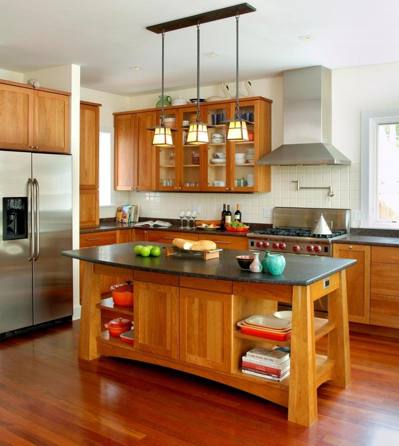 72 Luxurious Custom Kitchen Island Designs-70
