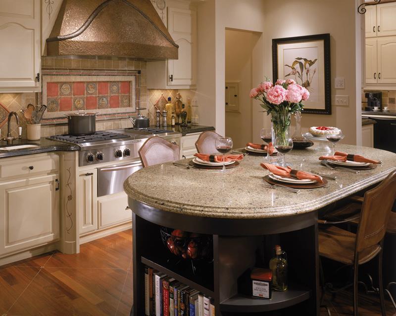 72 Luxurious Custom Kitchen Island Designs-71