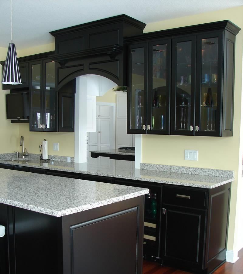 23 Beautiful Kitchen Designs With Black Cabinets-12