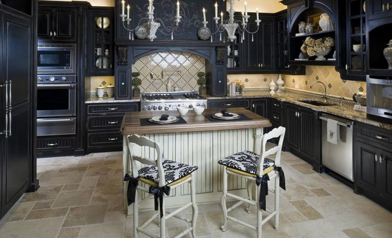 23 Beautiful Kitchen Designs With Black Cabinets-2