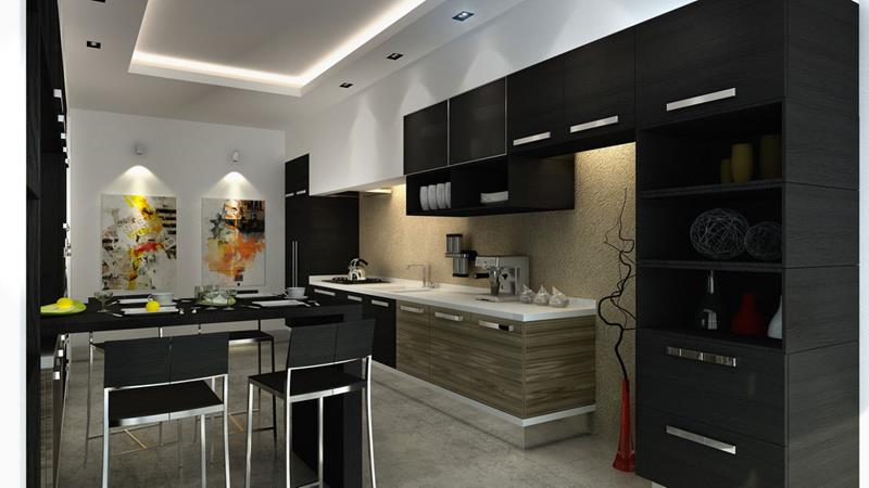 23 Beautiful Kitchen Designs With Black Cabinets-21