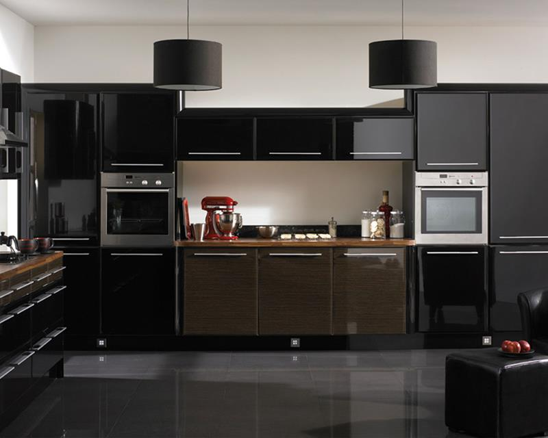23 Beautiful Kitchen Designs With Black Cabinets-5