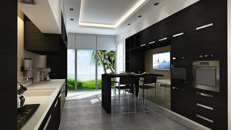 23 Beautiful Kitchen Designs With Black Cabinets-6