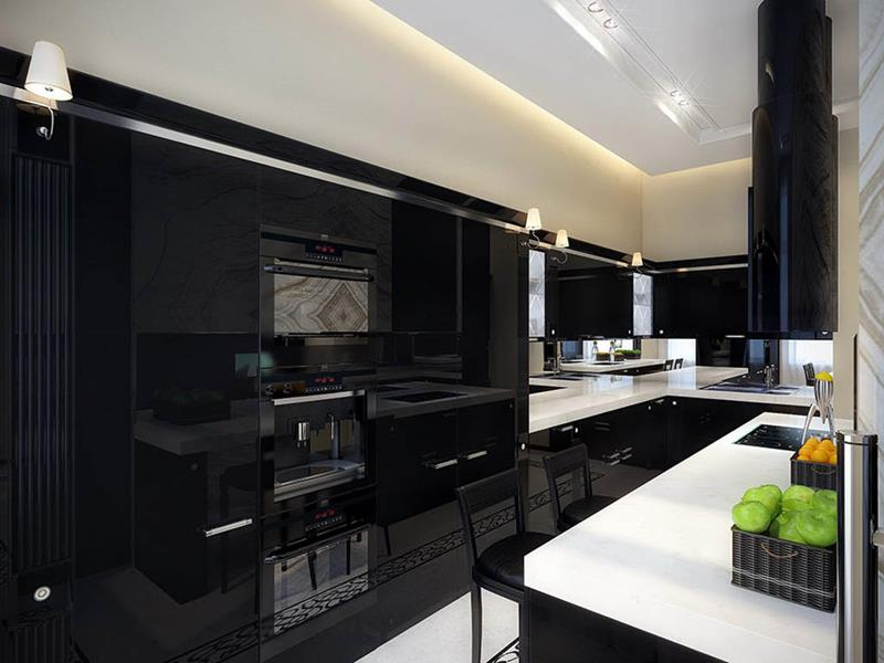 23 Beautiful Kitchen Designs With Black Cabinets-7