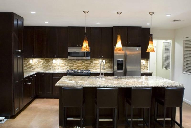 23 Beautiful Kitchen Designs With Black Cabinets-9