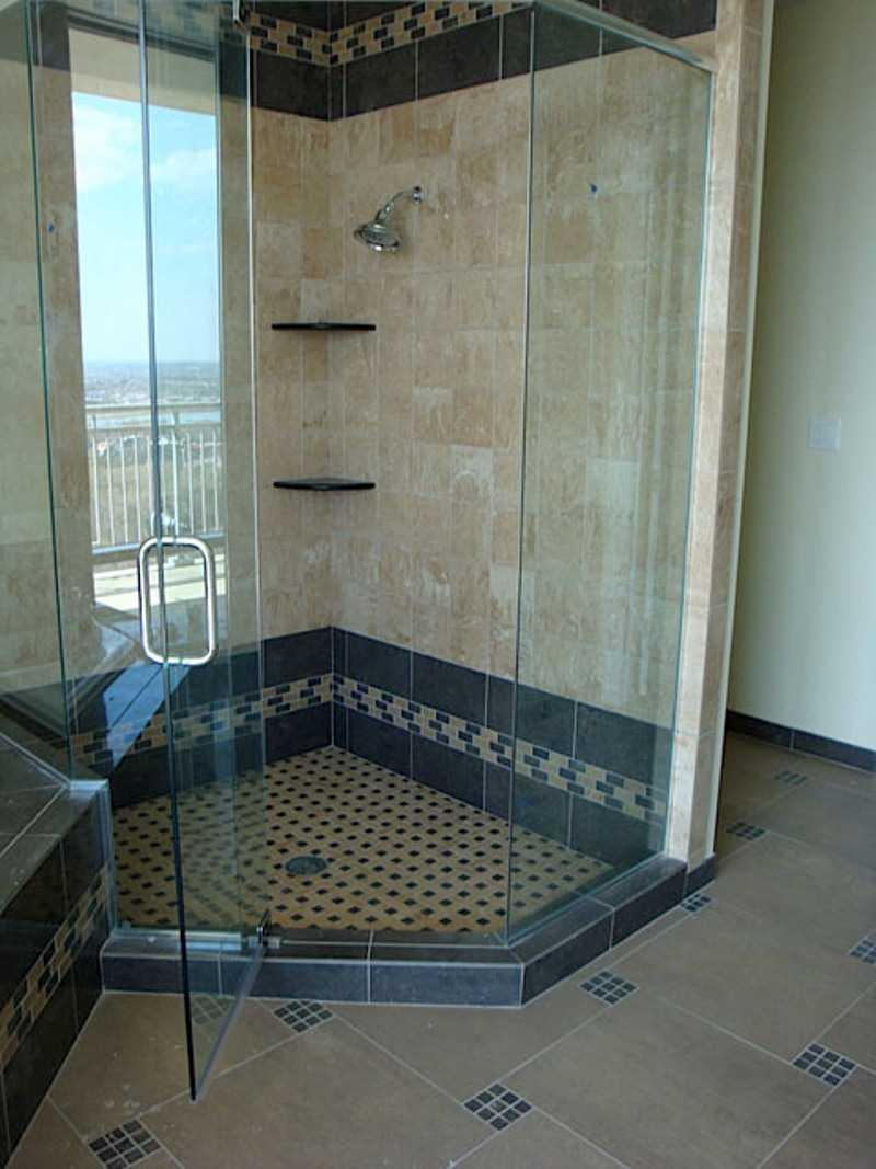 Small Bathroom Tile Ideas Corner Shower Bath