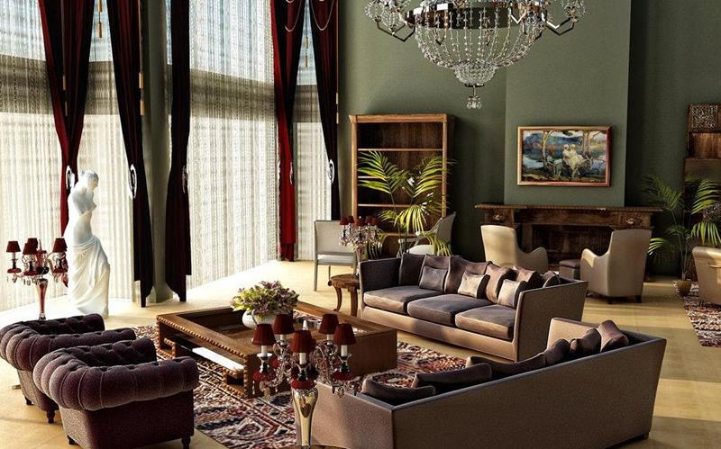 43 Elegantly Decorated Living Rooms-18