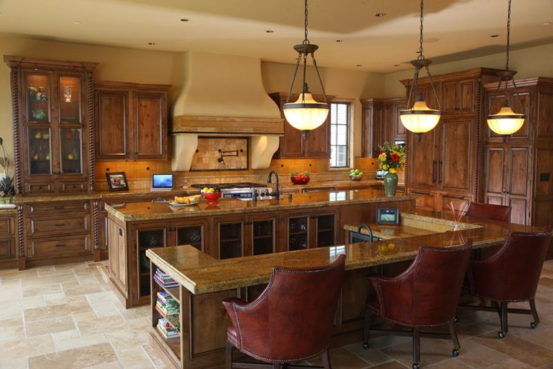 44 Custom Kitchens Of All Styles-23