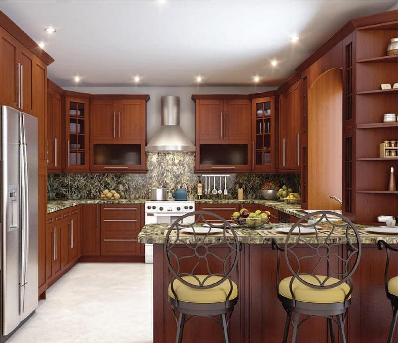 52 U Shaped Kitchen Designs With Style-48