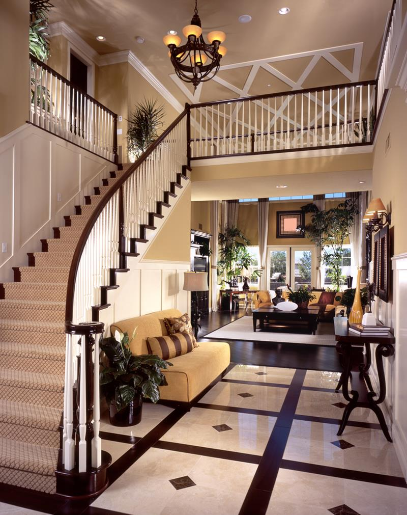 56 Beautiful And Luxurious Foyer Designs-5