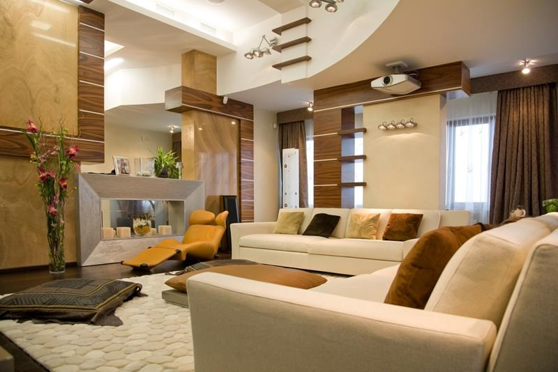 22 Living Rooms With Earth Tones-16