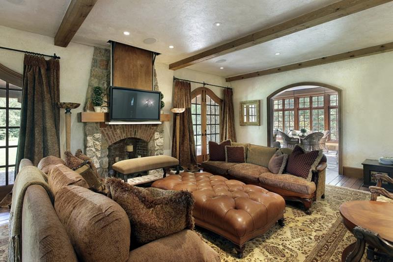 22 Living Rooms With Earth Tones-4