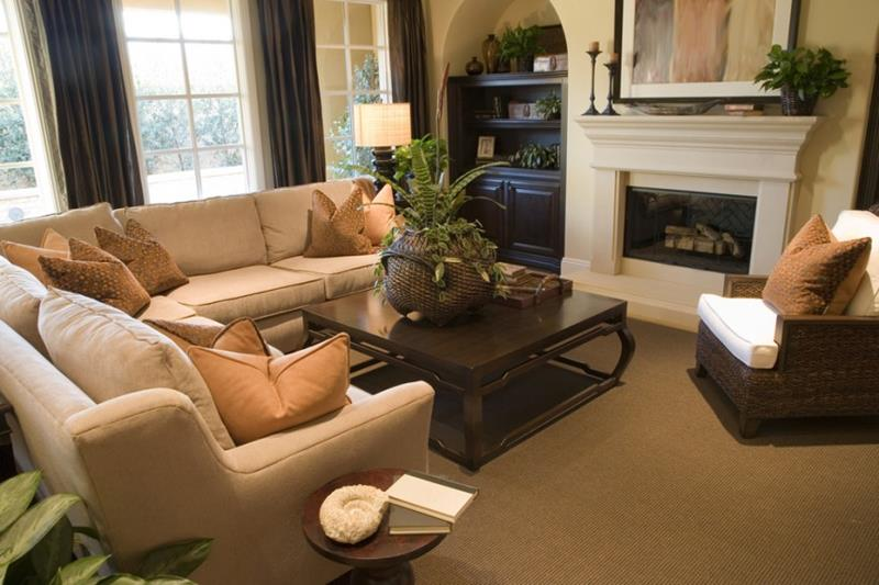 22 Living Rooms With Earth Tones-5