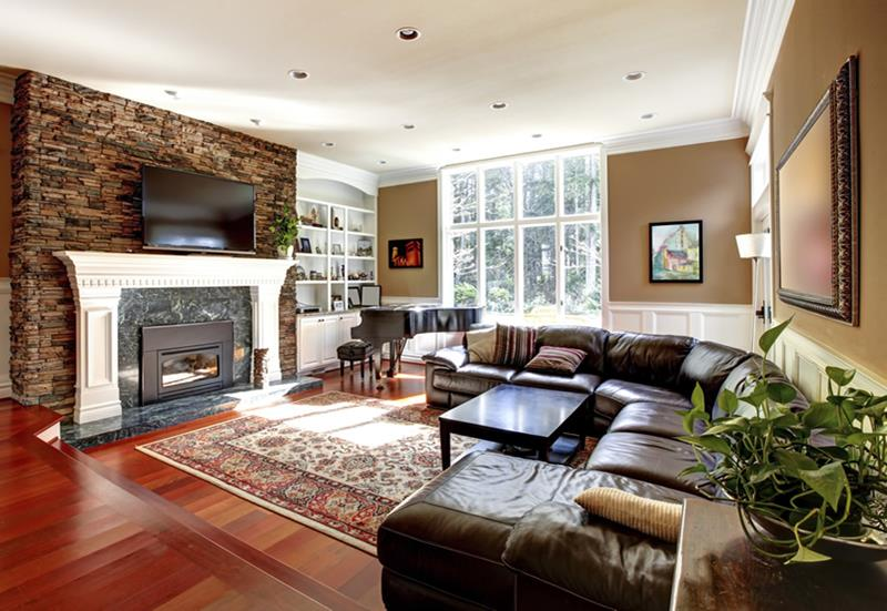 22 Living Rooms With Leather Furniture-9
