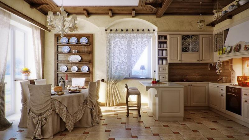 22 Stunning Kitchens With Tile Floors-22