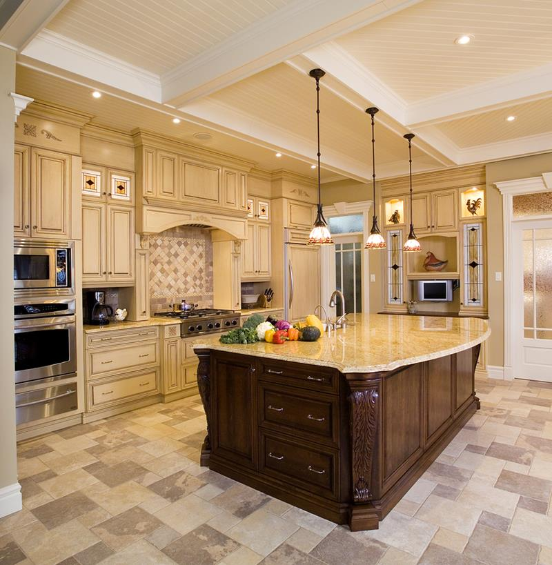 22 Stunning Kitchens With Tile Floors-3