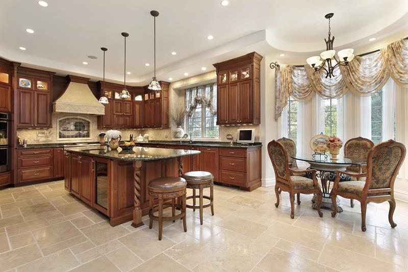22 Stunning Kitchens With Tile Floors-7