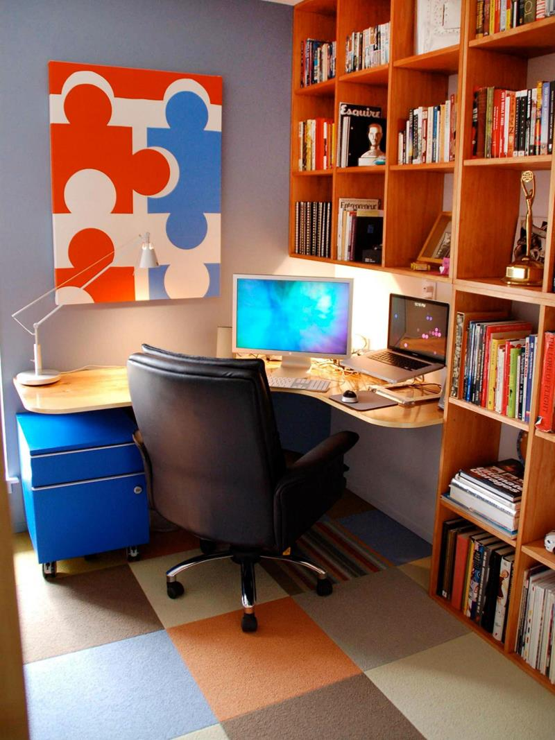 24 Functional Home Office Designs-21