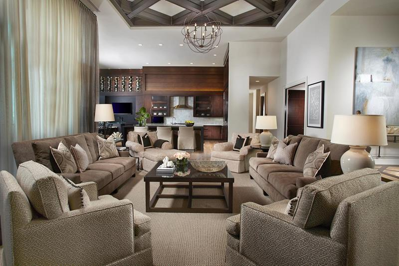 24 Large Open Concept Living Room Designs-6
