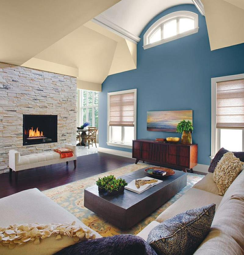 24 Living Room Designs With Accent Walls-15