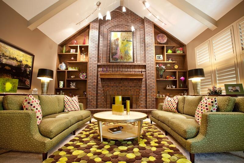 24 Living Rooms With Vaulted Ceilings-14