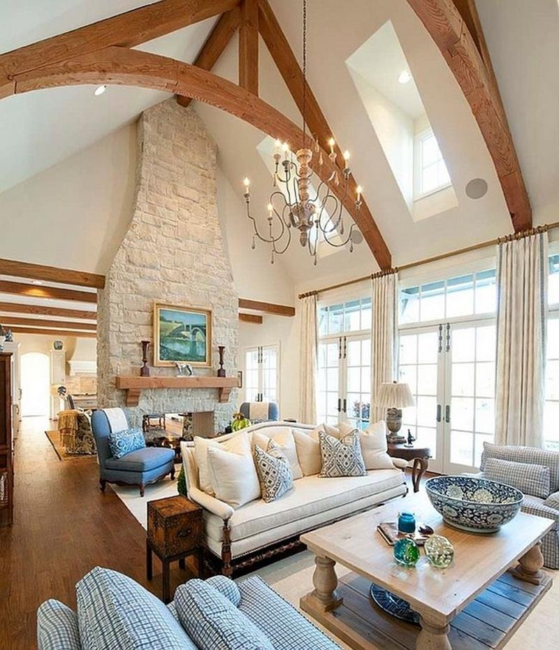 24 Living Rooms With Vaulted Ceilings-15