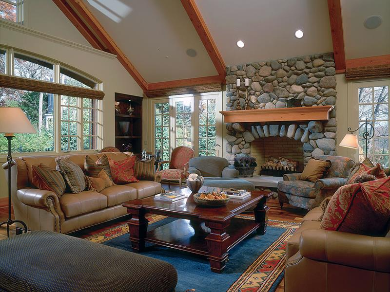 24 Living Rooms With Vaulted Ceilings-21