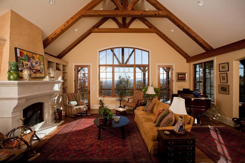 24 Living Rooms With Vaulted Ceilings-22