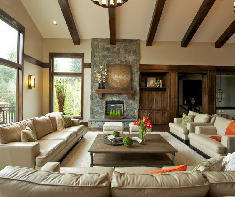 24 Living Rooms With Vaulted Ceilings-4