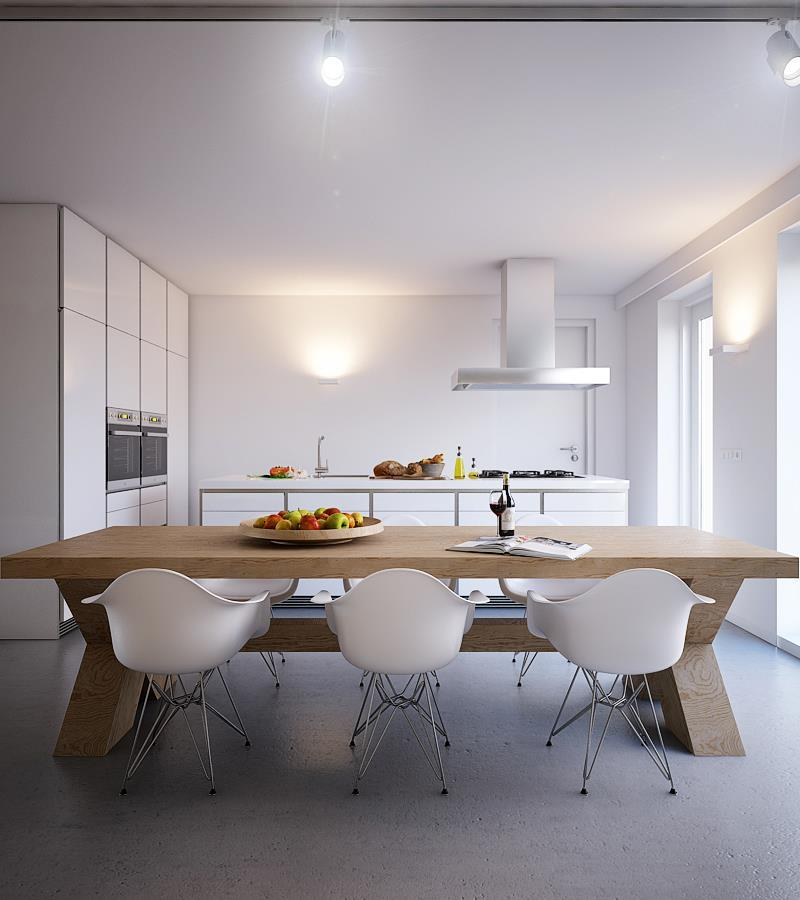 25 Captivating Ideas For Kitchens With Skylights: 25 Beautiful Kitchens With Dining Tables