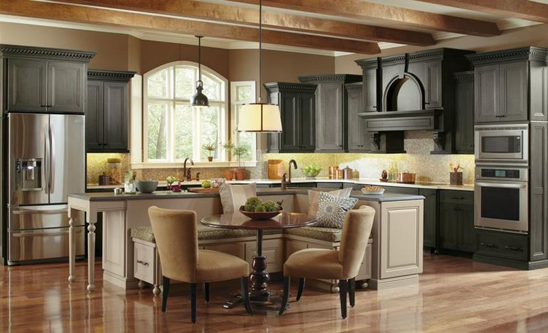 25 Beautiful Kitchens with Dining Tables-20