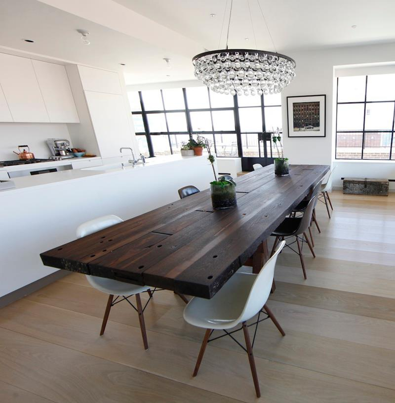 25 Beautiful Kitchens with Dining Tables-21