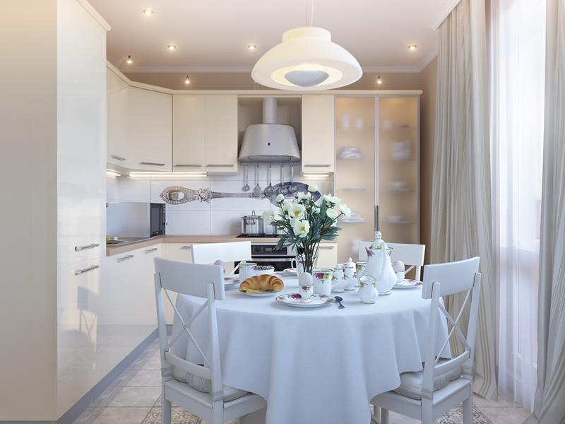 25 Beautiful Kitchens with Dining Tables-3