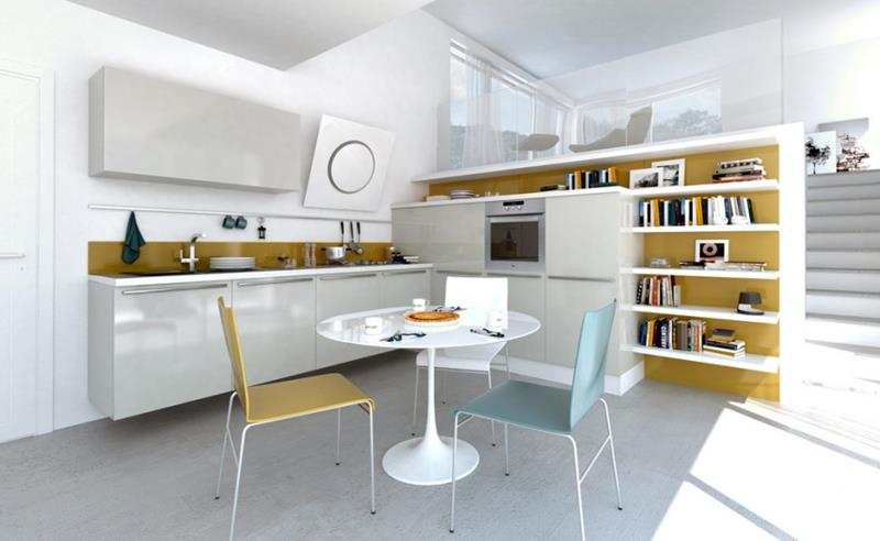 25 Beautiful Kitchens with Dining Tables-4