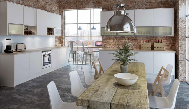 25 Beautiful Kitchens with Dining Tables-title