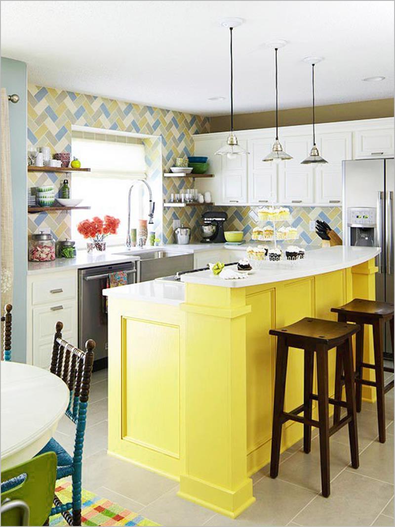 25 Bright Kitchen Designs-15