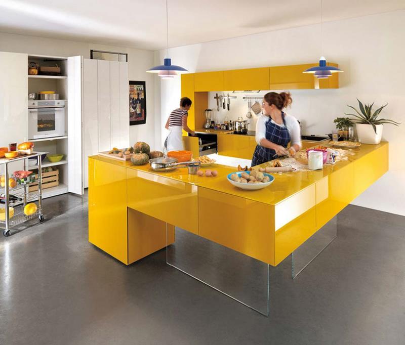 25 Bright Kitchen Designs-21