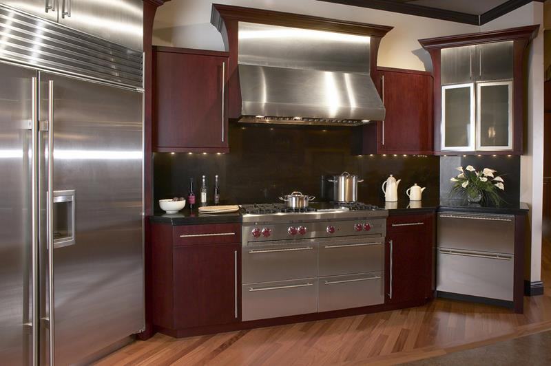 25 Kitchens With Stainless Steel Appliances-10