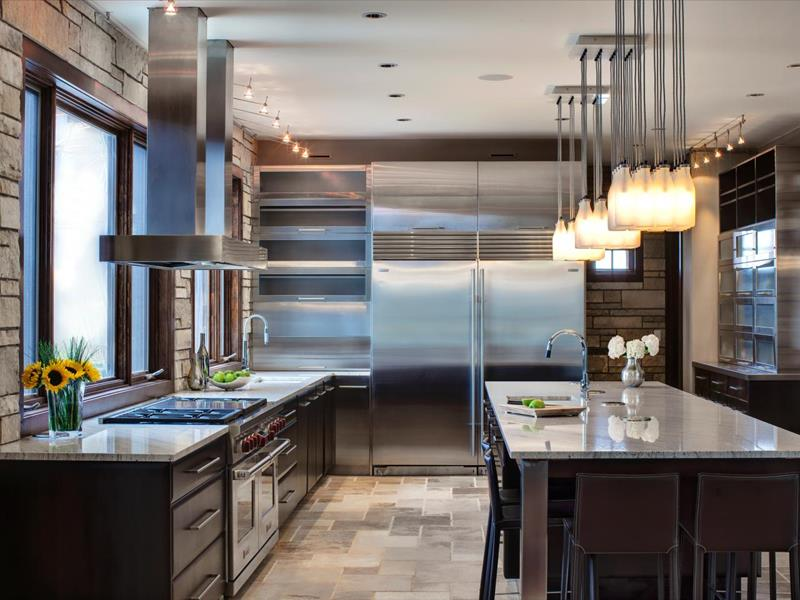 25 Kitchens With Stainless Steel Appliances-21