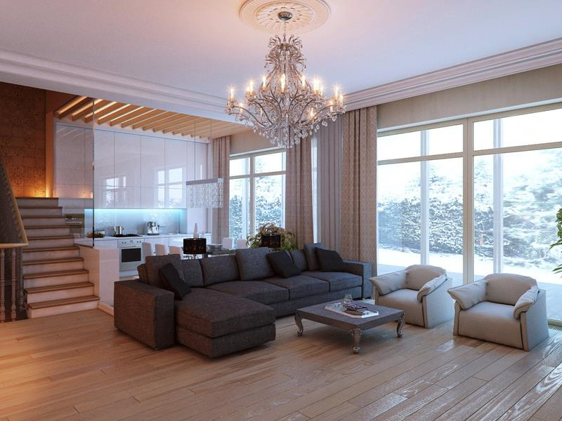25 Living Rooms With Hardwood Floors-11