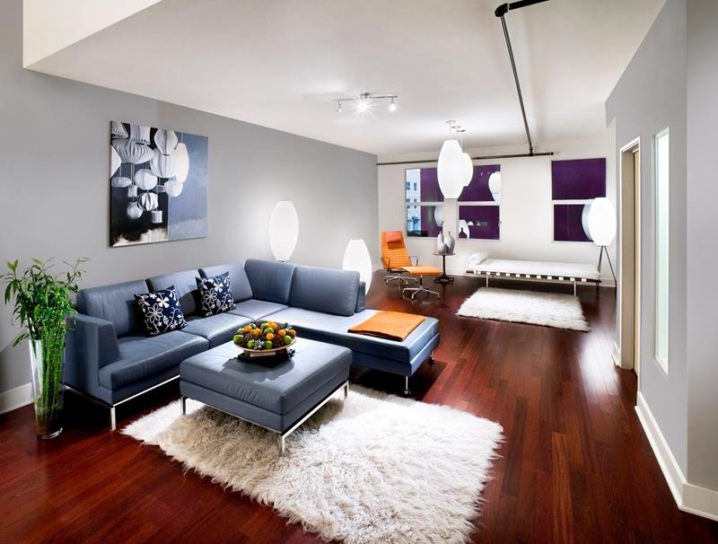 25 Living Rooms With Hardwood Floors-23